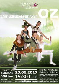 """Auftritt der Ballettschule im Saalbau Witten: """"Der Zauberer von OZ"""""""